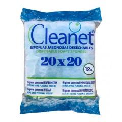 Губка пенообразующая одноразовая  CLEANET, 20х20см
