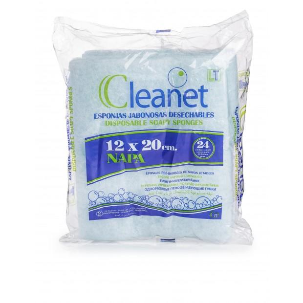 CLEANET Губка одноразовая , 12х20см COMPACT